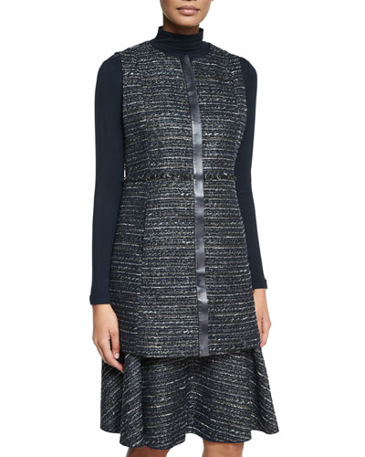 Inez Long Tweed Vest