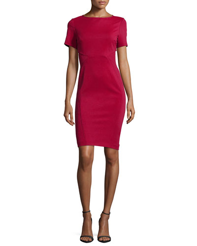 Hadley Short-Sleeve Body-Conscious Cocktail Dress