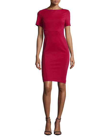 ZAC Zac Posen Hadley Short-Sleeve Body-Conscious Cocktail Dress