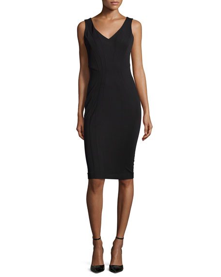 ZAC Zac PosenPia Sleeveless Cocktail Sheath Dress, Black