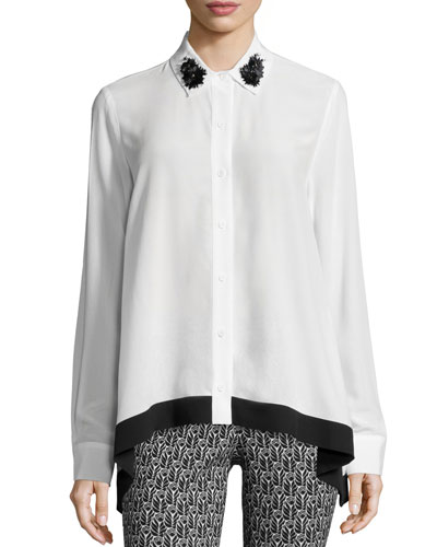 Gemma Long-Sleeve Blouse