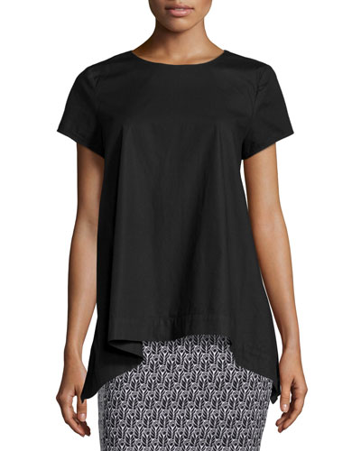 Katherine Short-Sleeve Arched Top