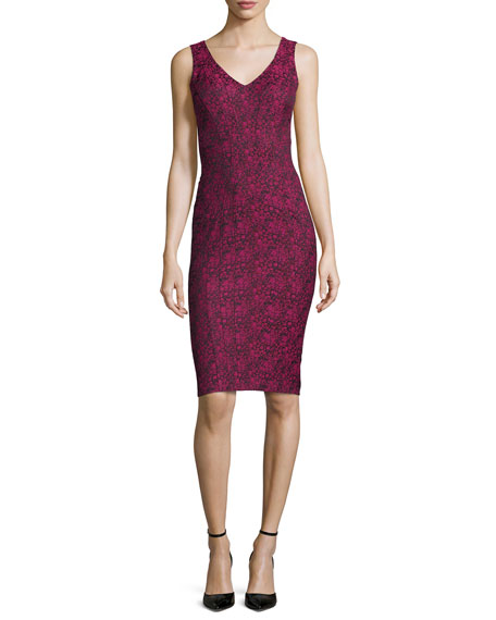 ZAC Zac Posen Pila Sleeveless Printed Sheath Dress