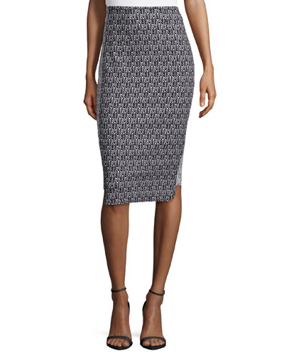 Pippa Pencil Printed Skirt