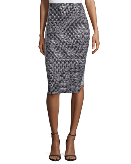 ZAC Zac Posen Pippa Pencil Printed Skirt