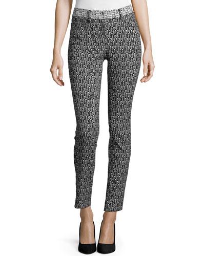 Floral-Print Skinny Pants