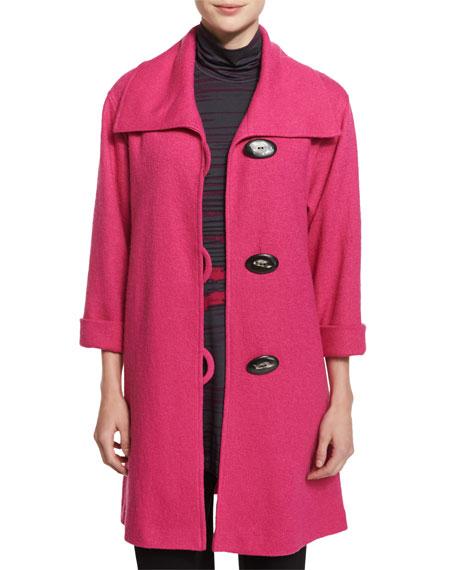 Caroline Rose Paris Plush Easy Coat, Pink