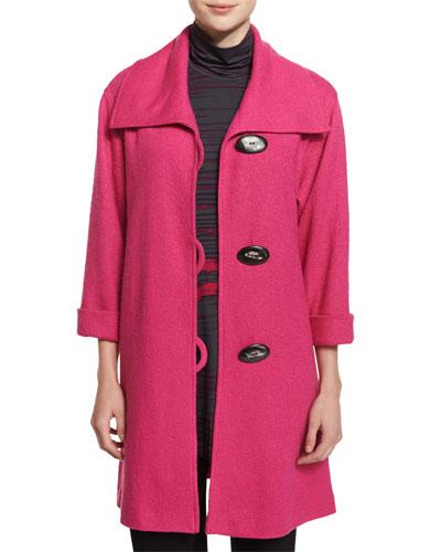 Paris Plush Easy Coat, Pink, Women's