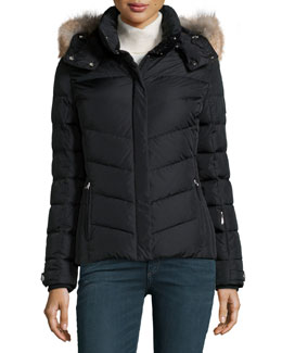 Sally Down Coat W/ Fur-Trim Hood