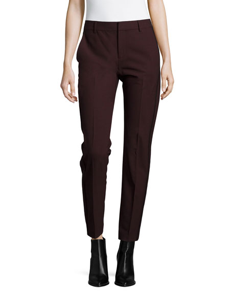 Vince High-Waist Contrast-Piping Trousers