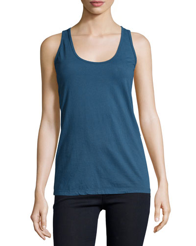 Basic Cotton Tank, Deep Dawn