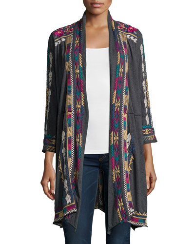 Colette Long Embroidered Coat, Women's
