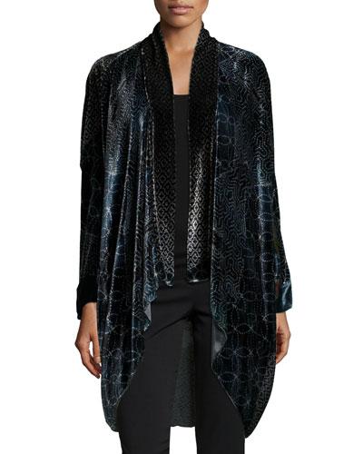 Domoto Printed Velvet Jacket, Women's