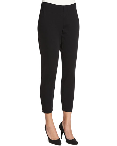 Eileen Fisher Heavyweight Slim Ankle Pants, Petite