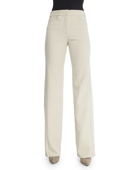 Halston Heritage High-Waist Wide-Leg Pants