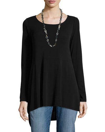 Long-Sleeve Jersey Swing Top, Women's