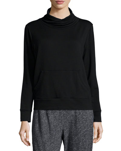 Funnel-Neck Fleece Box Top
