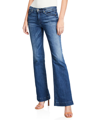 Dojo Flare-Leg Jeans, Lake Blue