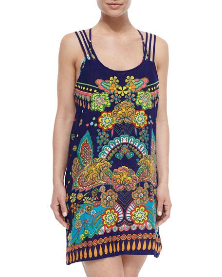 Nanette Lepore Retro Floral-Print Short Coverup Dress, Multi
