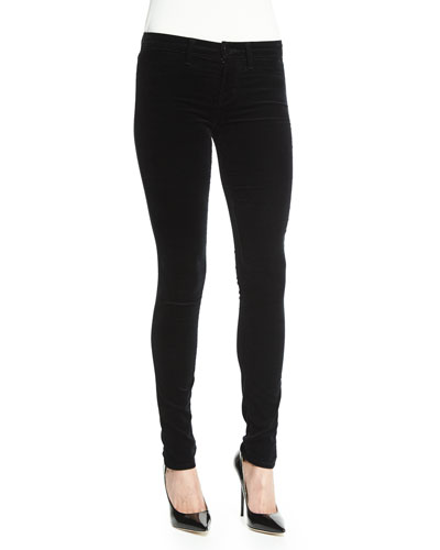 815 Mid-Rise Super-Skinny Jeans, Black