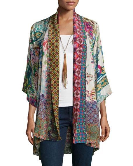 Dream Kimono Printed Jacket, Plus Size