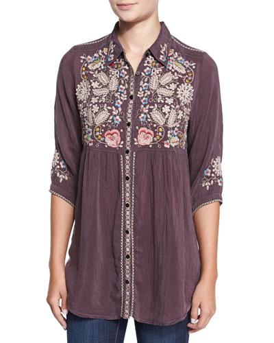Britnee Embroidered Tunic