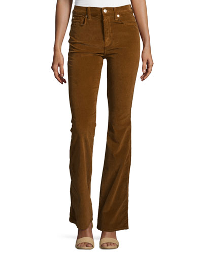 Fashion Flare High-Waist Pants, Cognac
