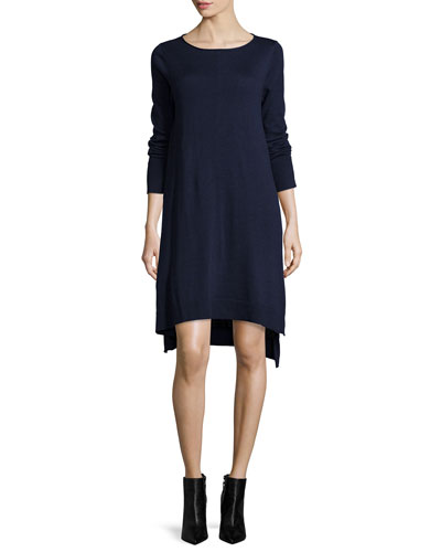 Merino Jersey Layering Dress, Petite