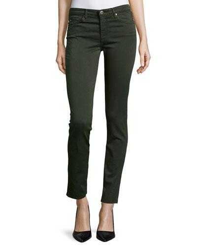 Prima Mid-Rise Skinny Jeans, Sulfur Dark Moss