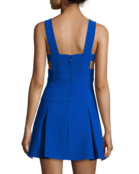 Harlie Fit-&-Flare Dress, Blue