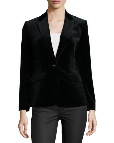Le Velvet Slim-Fit Blazer, Noir