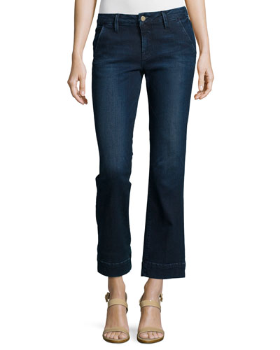 Le Slim Straight Cropped Denim Jeans, Denrock