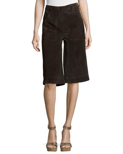 Le Gaucho Cropped Pants, Dark Brown