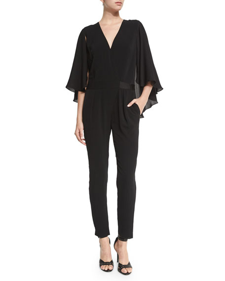 Halston Heritage Jumpsuit with Flowy Sleeves