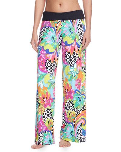 Balboa Printed Rolled-Top Pants