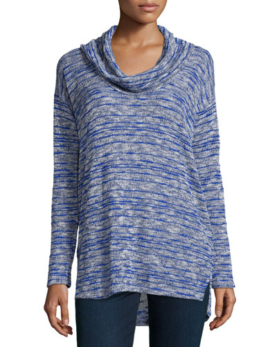 Upstate Long-Sleeve Striped Top, Marina
