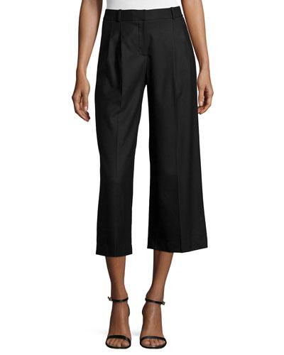 Flannel Wide-Leg Culottes