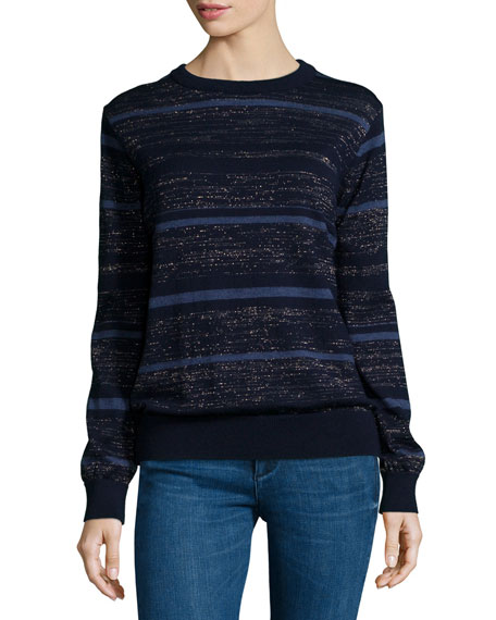 MiH Falls Multi-Stripe Sweater, Blue Mix