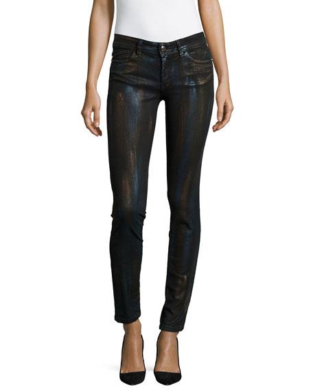 Just Cavalli Metallic Coated Skinny Jeans