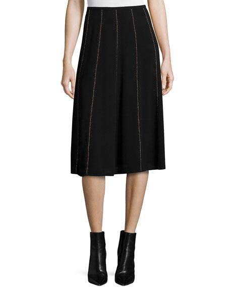 MICHAEL Michael Kors Studded Flared Midi Skirt