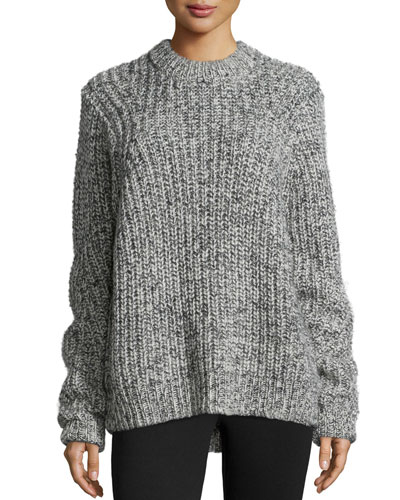 Crewneck Wool-Blend Sweater