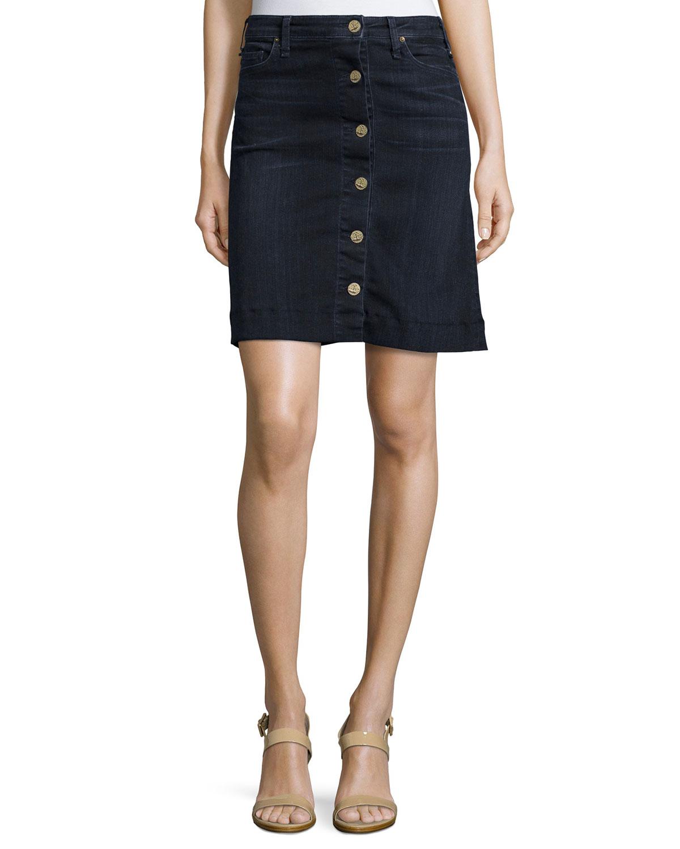 159fac03ba6a McGuire Columbier Button-Front Jean Skirt