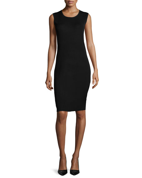 Sleeveless Body-Conscious Dress