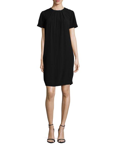 MICHAEL Michael Kors Hardware-Neck Short-Sleeve Dress