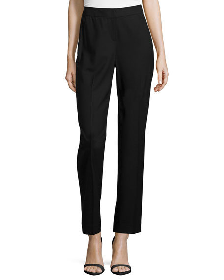 Lafayette 148 New York Front-Zip Straight-Leg Pants