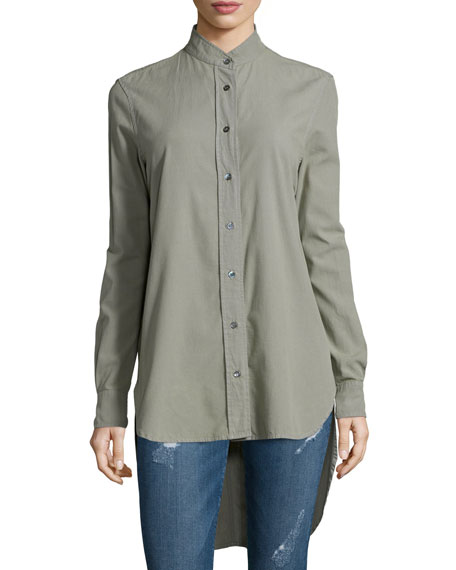 FRAME DENIMLe Tunic Cotton Shirt, Military