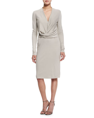 Long-Sleeve V-Neck Dress, Atmos