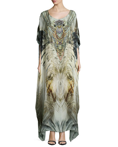 A Sky of Shadows Embellished Caftan