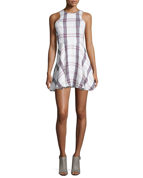 Lovers + Friends Sadie Fit-&-Flare Plaid Dress, Wine