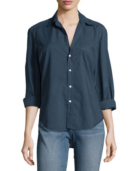 Frank & Eileen Eileen Long-Sleeve Button-Front Blouse, Navy